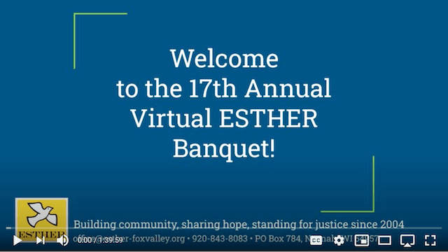 Thumbnail of ESTHER 2020 Banquet video on YouTube