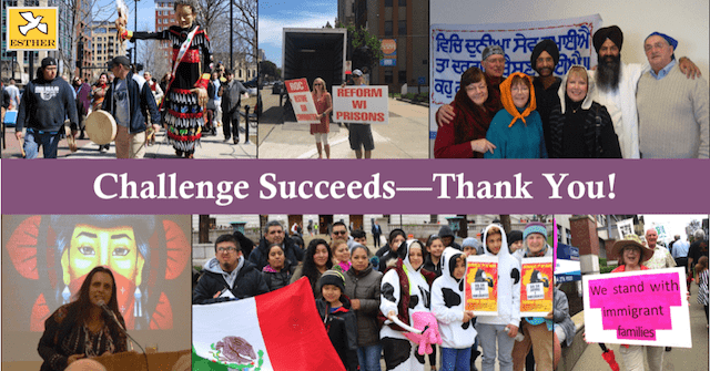 Challenge Succeeds--Thank You!