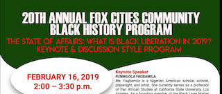 20th annual Fox Cities Community Black History Program Poster