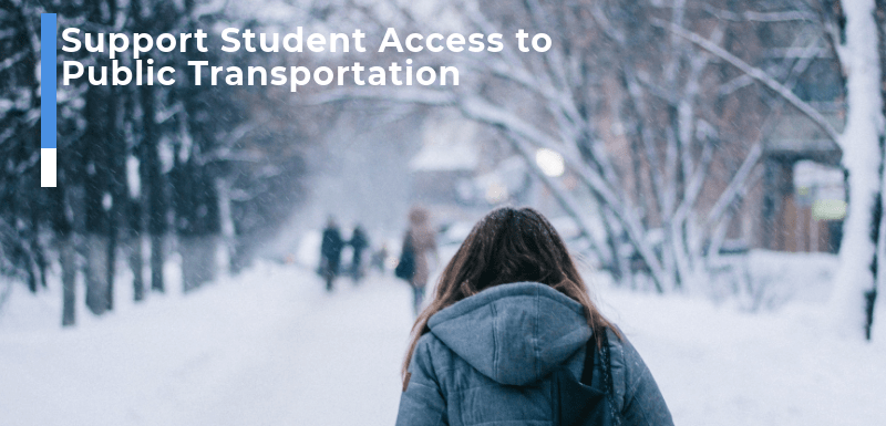 Support Student Access to Public Transportation