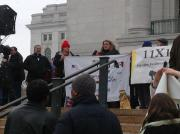 Madison Action Day Podium on Capitol Stape