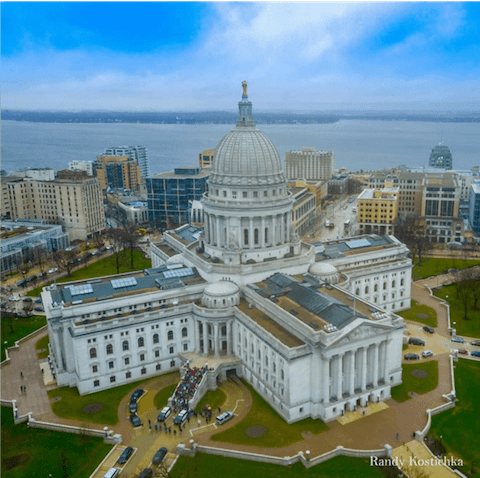 View of State Capital from Above