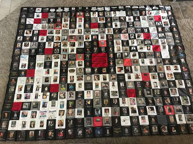 faces of addiction and recovery quilt