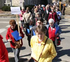 ESTHER members marching to the Capitol in Madison