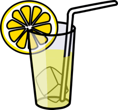 glass of lemonade