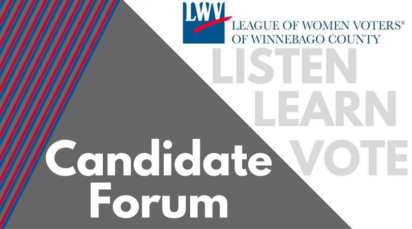 lwv winnebago county candidate forum banner