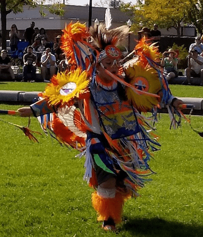 Native American Dance in Costume
