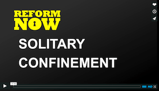 Title screen of solitary confinement video