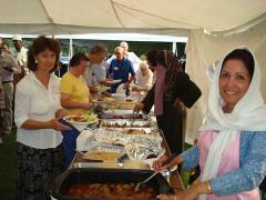 Serving line at the 2010 Interfaith Gathering
