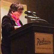 Sr. Helen Prejean speaking at ESTHER's 10th anniversary banquet